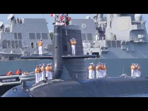 Japanese Submarine JS Hakuryu Arrives in Pearl Harbor (4K UHD)