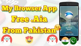 Browser App Free .Aia 🔥 .Aia From Pakistan 😊 Thunkable 2018 🔥