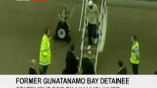 Binyam Mohamed arrives back in the UK from Guantnamo 23 February 2009