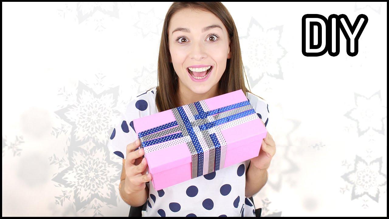 DIY: Jak zapakować prezent na święta? Pomysł na prezent ❤   Domodi TV