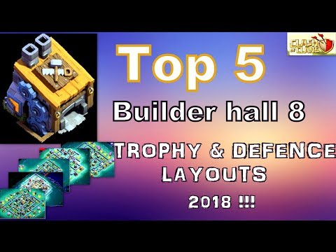 Top5 Best BH8 Base Designs | Trophy & Defence Layouts (Mar) 2018 |