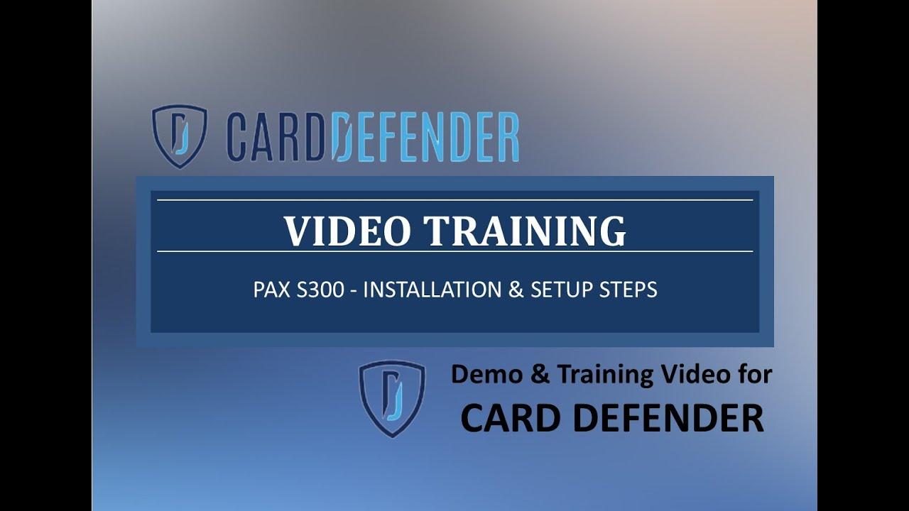 Card Defender S300 - Installation & Setup Steps