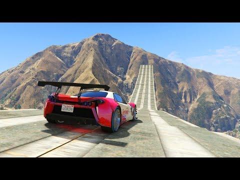 MEGA SUPER RAMPA AL VACIO!!!! - CARRERA GTA V ONLINE - GTA 5 ONLINE