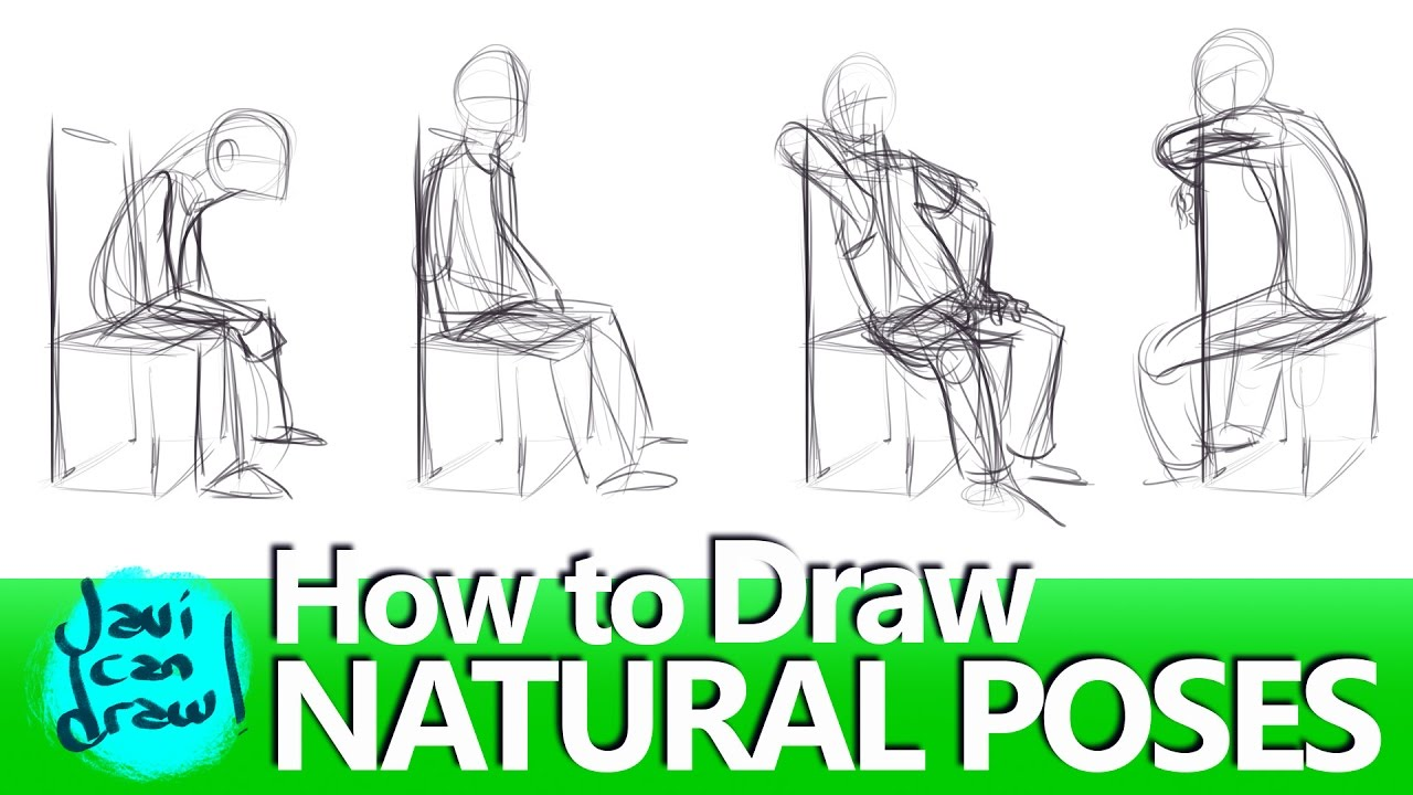 How to draw natural sitting poses youtube