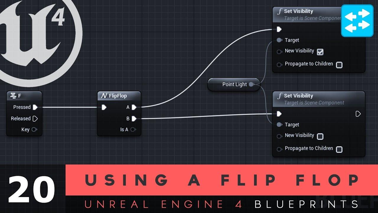 Using the flip flop node 20 unreal engine 4 blueprints tutorial using the flip flop node 20 unreal engine 4 blueprints tutorial series malvernweather Images