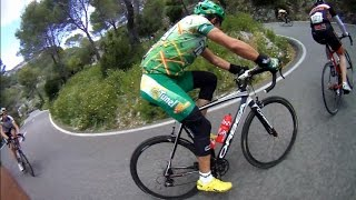 60 Minute Uphill Cycling Trainer Workout in Spain Full HD
