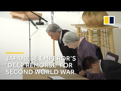 Japan's Emperor Akihito expresses 'deep remorse' over second