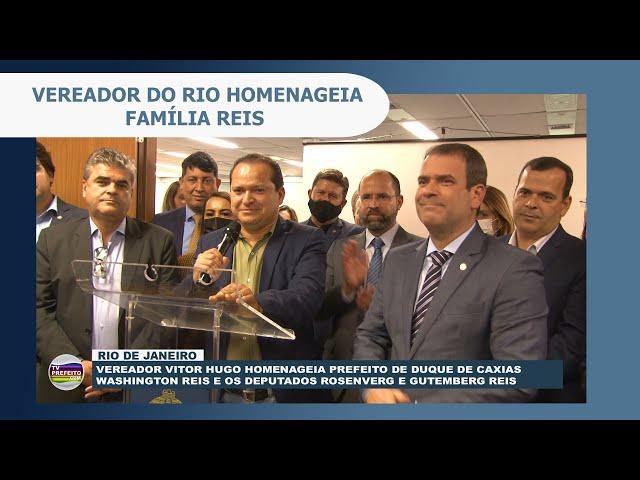 Vereador Vitor Hugo homenageia prefeito Washington Reis e os deputados Rosenverg e Gutemberg Reis