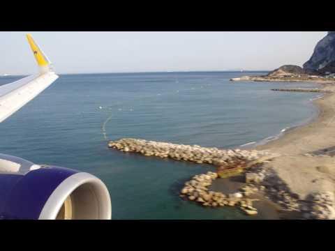 Landing At Gibraltar Airport 1st July 2016