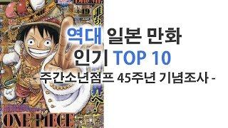 역대 일본 만화 인기 top 10