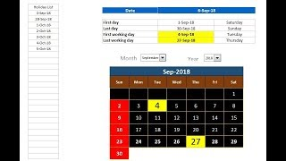 Excel Tips: How to get First and Last Working day of the Month from given date
