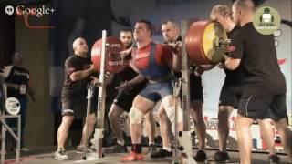 Юрий Белкин до 105 кг   все выступление на ЧМ по пауэрлифтигу 2014