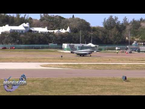Military Aircraft Arriving LF Wade International Airport Bermuda April 7 2011
