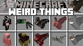 Minecraft WEIRD THINGS MOD / LAB EXPERIMENT WENT WRONG!! Minecraft