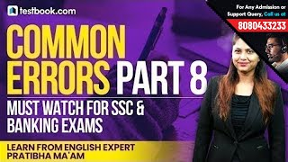 Common Errors Part 8 | Best English Show for Vocabulary & Grammar by Expert Pratibha Ma'am
