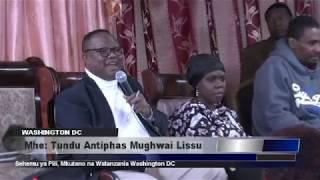 Mkutano wa Tundu Lissu Washington DC - Sehemu ya Pili