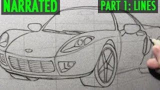 How to Draw a Car [Part 1: Lines]