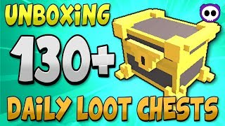 UNBOXING OVER 130 DAILY LOOT CHESTS IN TROVE! ✪ Karma Bar Get