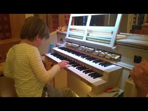 Noah plays the organ at St John the Baptist in Woy Woy