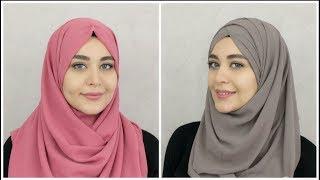 طريقتان جديدتان لعمل حجاب الشيفون | Muslim Queens AR by Mona