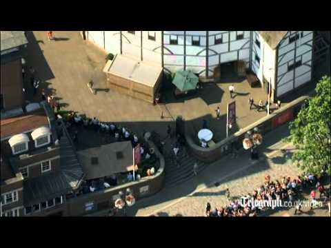 London 2012: The Olympic torch goes to the Globe theatre