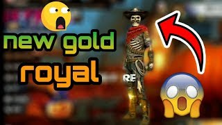 Free fire:- new gold Royal update||Free fire new gold Royal dress| Free fire new golld