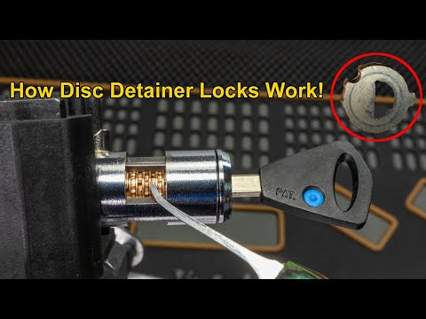 [296] Close-up On How A Disc Detainer Lock Works