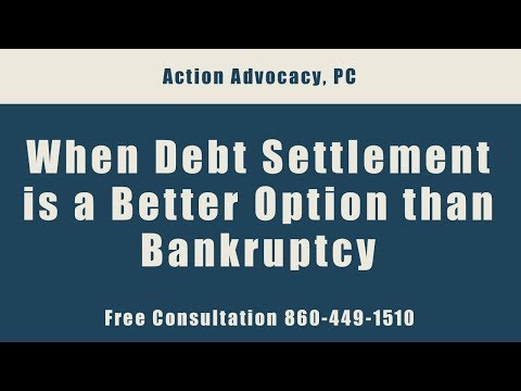 Your Other Financial Debt Options - Debt Settlement - Free Consultation 860-449-1510