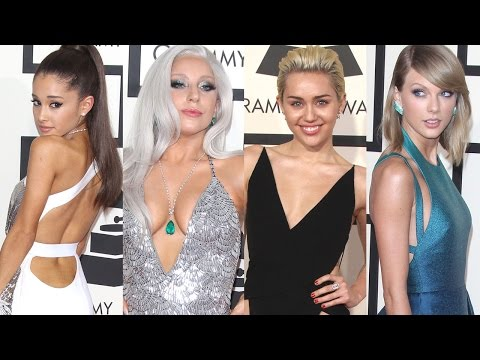Ariana Grande, Taylor Swift, Miley Cyrus, Lady Gaga & More Sizzle On The Grammys 2015 Red Carpet Mp3