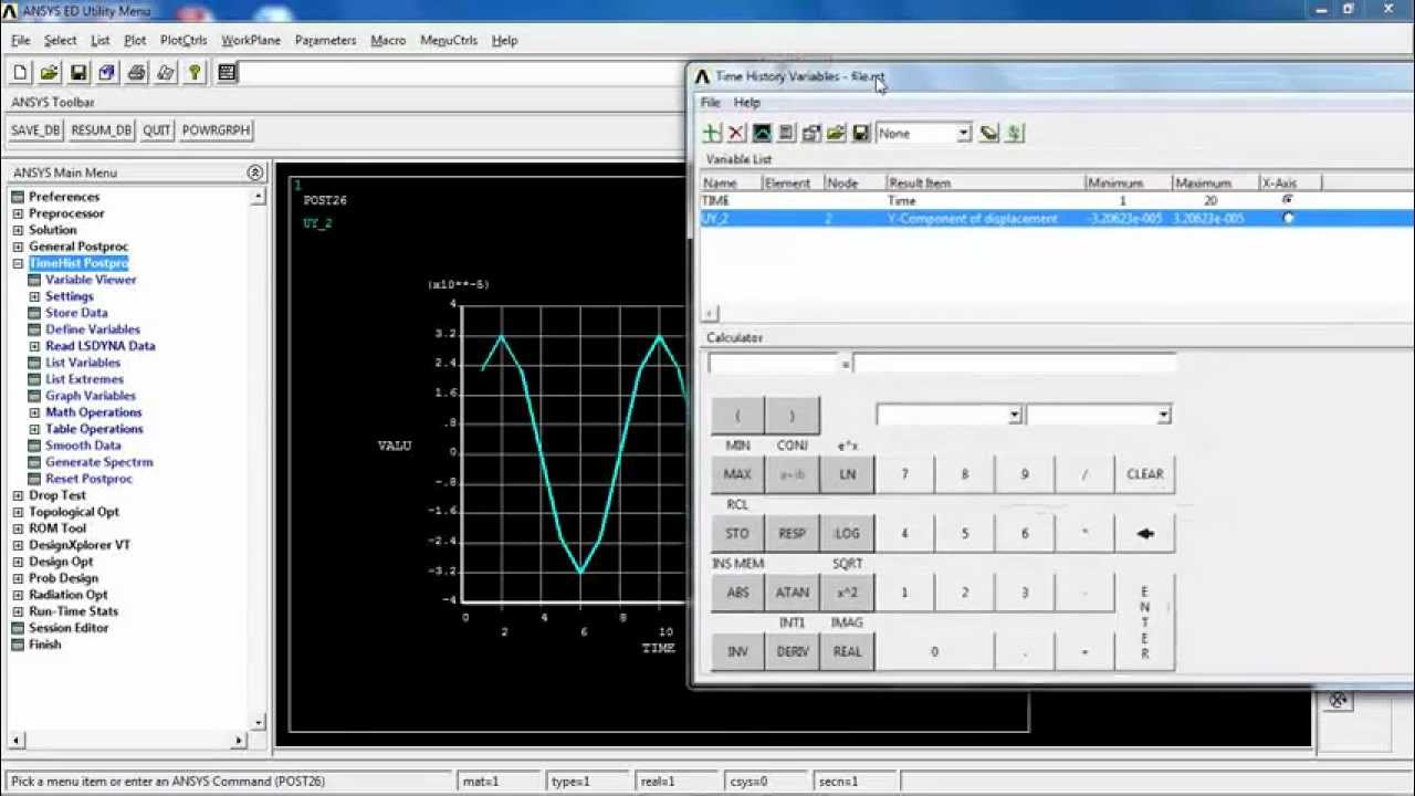 mathematical function in ansys apdl