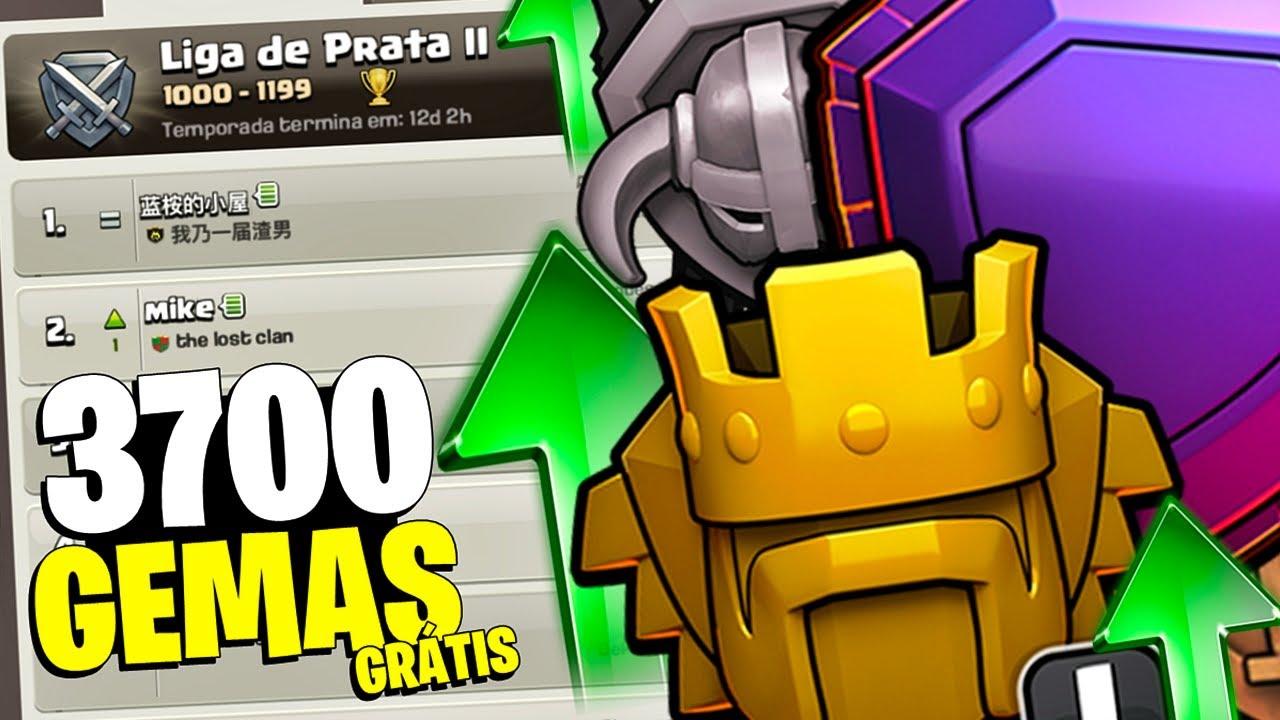 ALGUÉM DISSE... 3700 GEMAS GRÁTIS? PUSH ON EM BUSCA DAS GEMAS do QUINTO PEDREIRO! - Clash of Clans