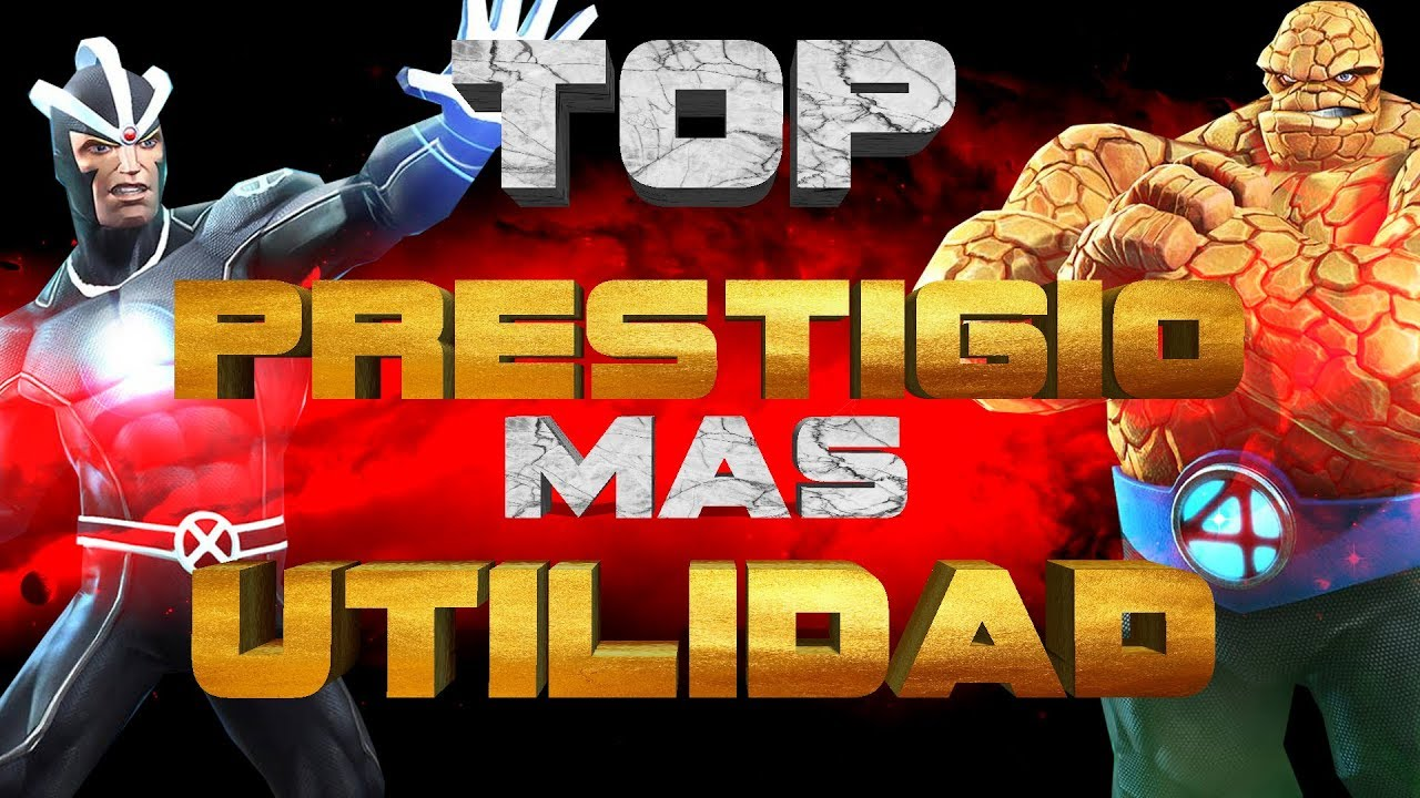 Top Personajes Con Mas Prestigio Y Utilidad De Marvel Contest Of Champions Youtube