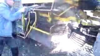 mycie ropy myjką 250bar 20l/min z dyszą turbokiler