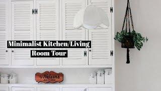 MINIMALIST KITCHEN & LIVING ROOM TOUR | FALL HOME DECOR
