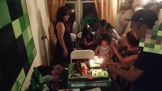 William Minecraft Birthday Party 2