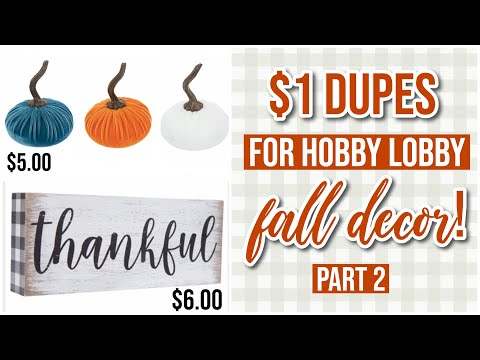 MORE $1 Dupes for Hobby Lobby Fall 2019 Decor + Haul!