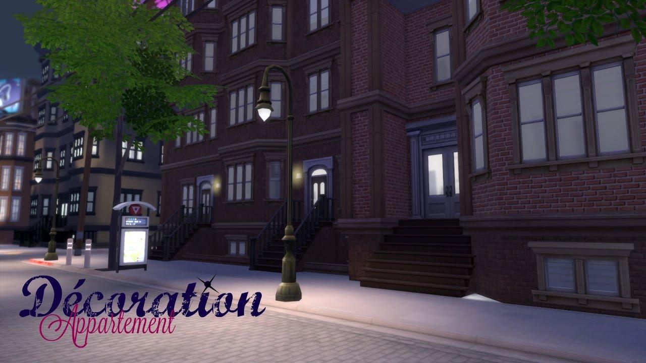 Sims 4 fr deco appartement quartier des pices youtube for Deco appartement sims 4