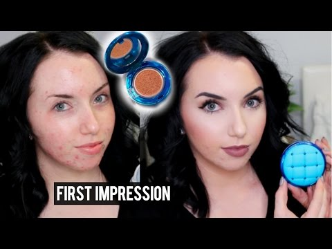 NEW PHYSICIANS FORMULA CUSHION FOUNDATION {First Impression Review & Demo} Pale skin