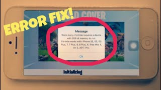 Fortnite iPhone 5 Ram Error Fix Now!!! Complete Guide 100% Working | Fix it Now!!!