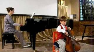 Little cellist Gabriel (7 years old) plays Scherzo by Webster