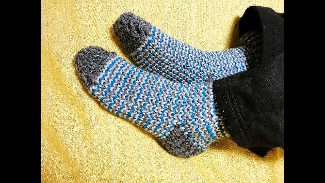 Knitting Socks On A Loom : How to loom knit socks diy tutorial youtube