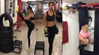 Heroine Pooja Hegde morning workout Excercise Aravindha Sametha Movie Exclusive | Cinema Politics