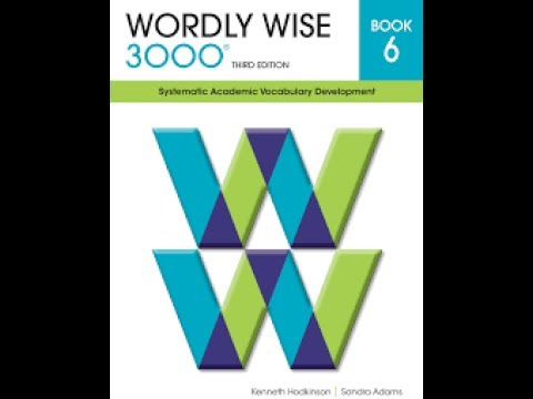 Wordly Wise 6 Lesson 3 English Academic Vocabulary