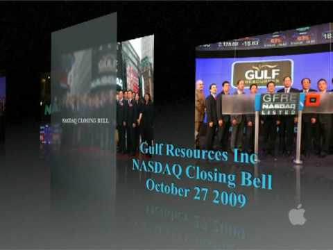 CCG IR Asia - Gulf Resources, Inc. Openning Bell 10-27-2009 part1