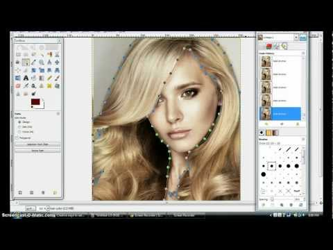 how to cut an image in gim