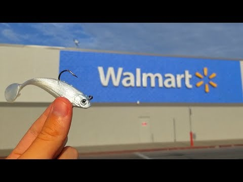 Using CHEAPEST Fishing Lures At Walmart (Challenge)
