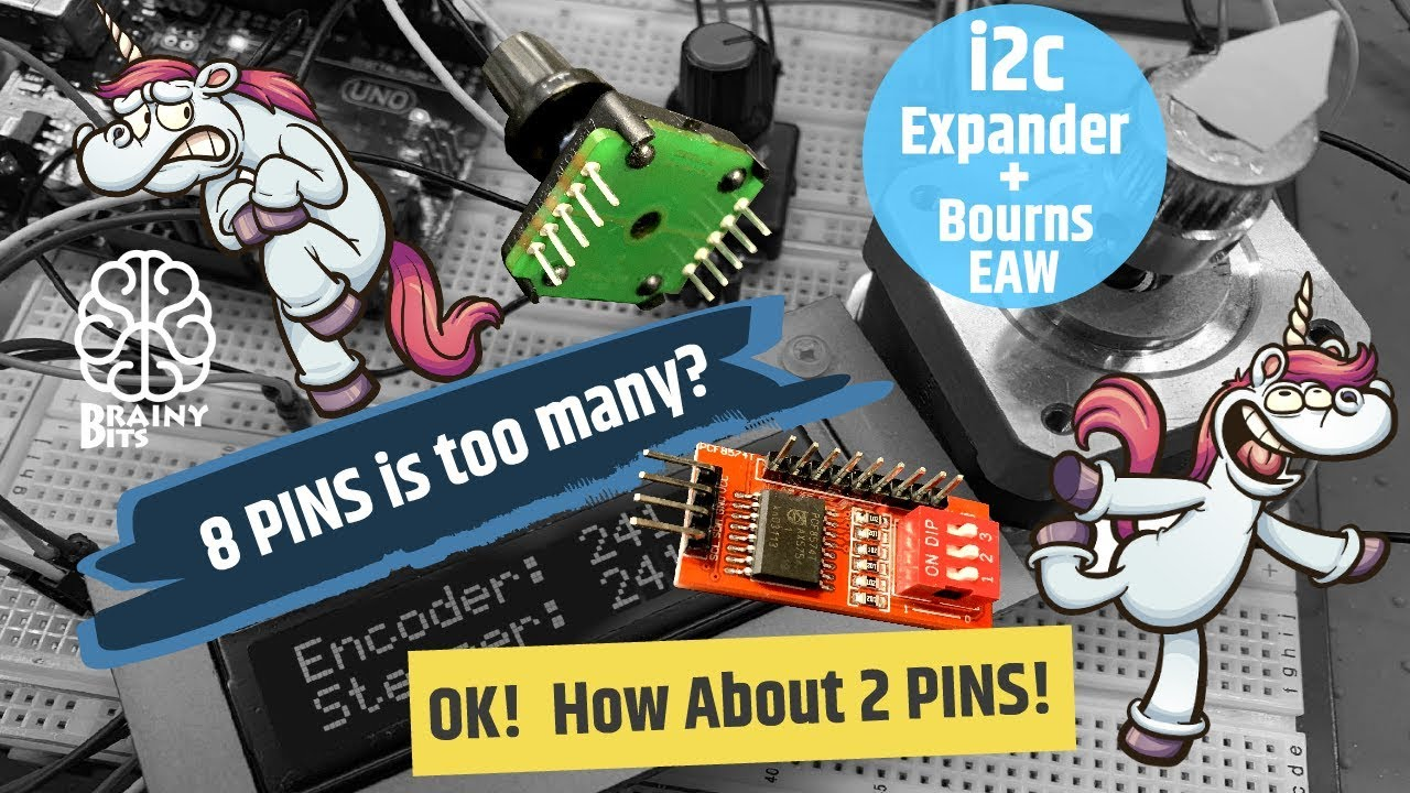 8 Pins is too many? How about just 2 pins? Using the Bourns encoder