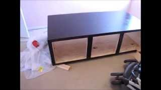 Diy Day Bed Part 2 - Trim, Staining, And Doors