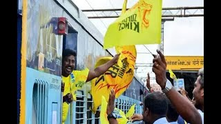 Special Train Full of Chennai Super Kings Fans Reaches Pune