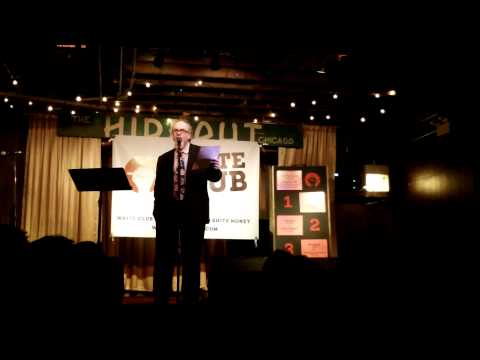 William Shunn defends the topic of GOD at Write Club